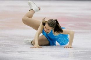 figure skating fall