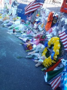 In the days after Marathon Monday, memorials bloomed at each of the barricades surrounding the Copley Square area.