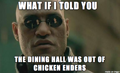 qypoeot 12 memes for when \u201cthe dining hall is out of chicken tenders,Tender Meme