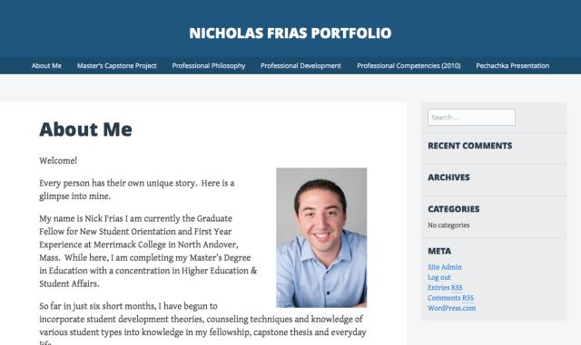examples of  sagrad online professional portfolios