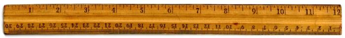 Old wooden ruler.