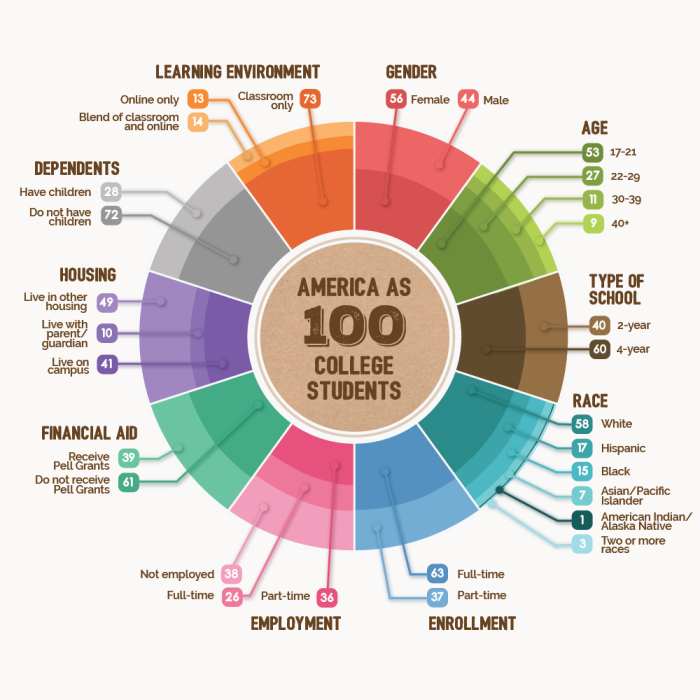 America As 100 College Students