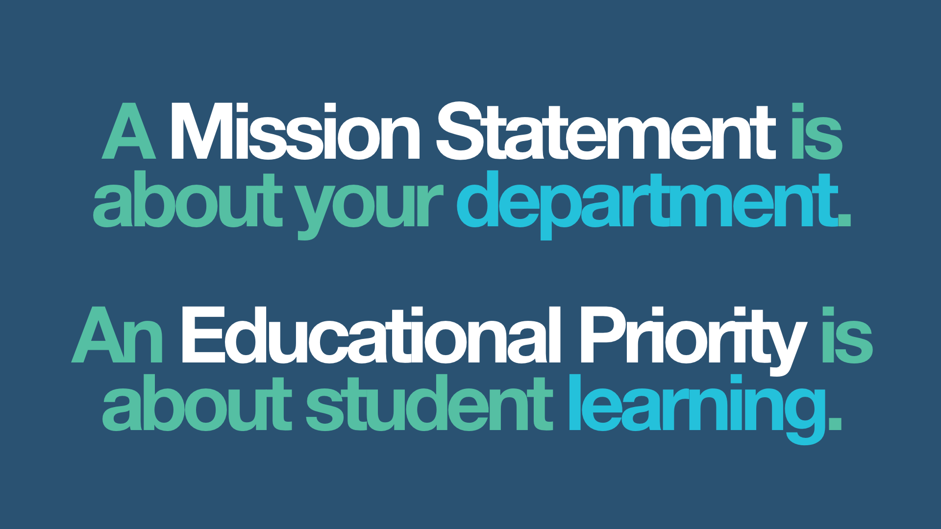 The Difference Between A Mission Statement And An Educational