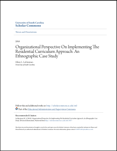 Organizational Perspective On Implementing The Residential Curriculum